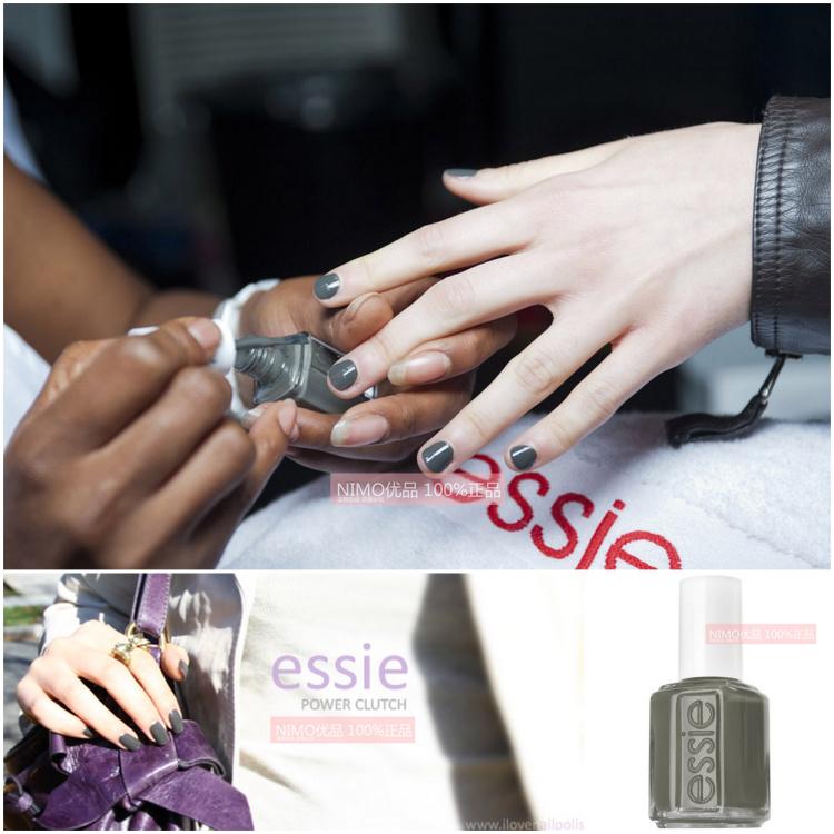 優品家美國正品ESSIE指甲油 763酷酷的深灰黑色 套裝持久不掉色