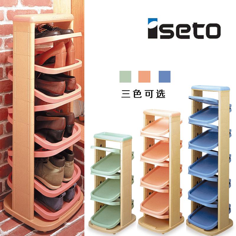 日本進口ISETO多層組合家用創意鞋架 鞋子整理收納架塑料簡易鞋櫃