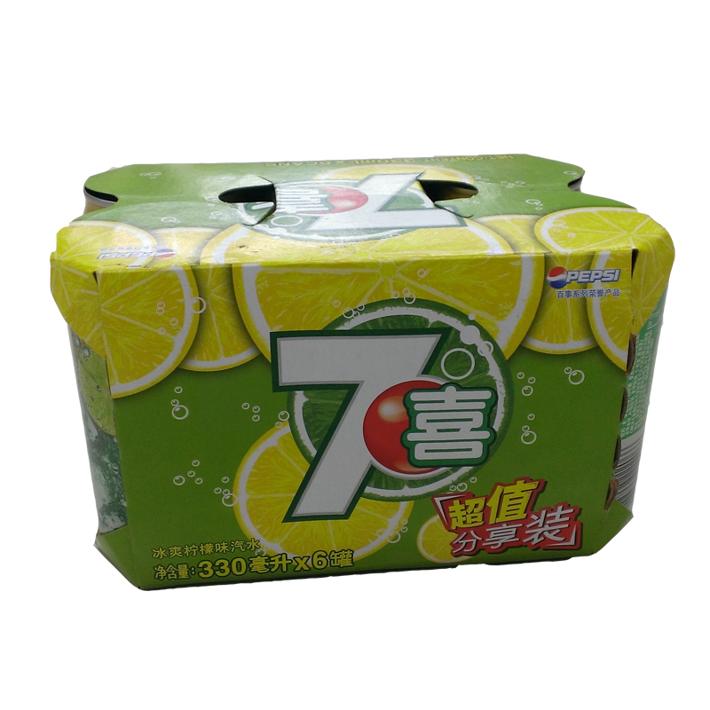 【天猫超市】百事七喜6联包拉罐330ML*6罐 柠檬味饮料百事可乐