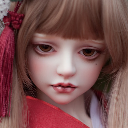 [鬼契人型]1/2大人形女娃-山茶(2分BJD娃娃日本和服SD娃娃)