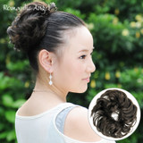 Wig ring hair bun hair bud elastic hair rope hair ring natural messy fluffy elastic rubber band tie rope headdress hair accessory