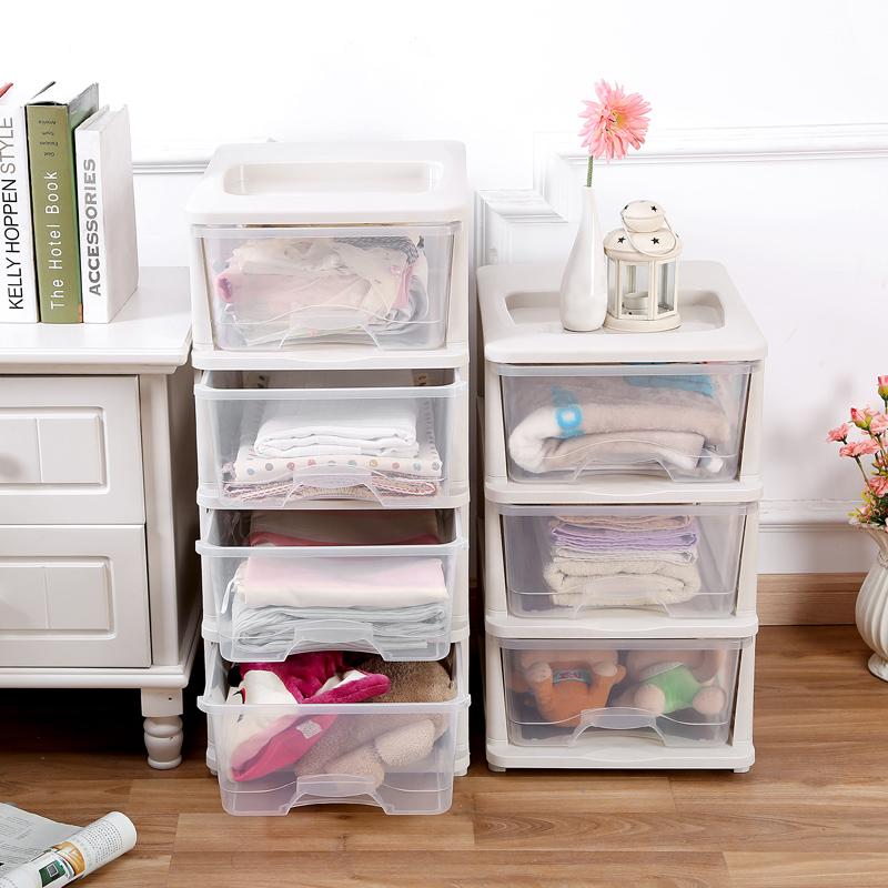 九夢 抽屜式收納櫃透明收納箱塑料儲物箱衣物整理箱兒童寶寶衣櫃