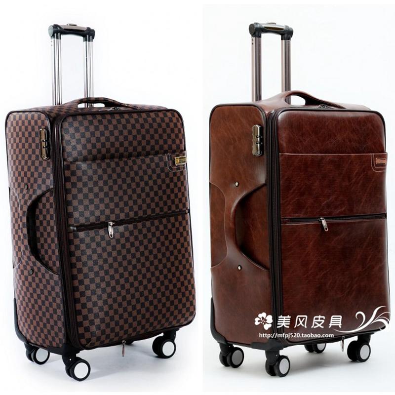 旅行箱24寸拉桿箱萬向輪20寸登機箱商務26寸行李箱女男密碼軟皮箱
