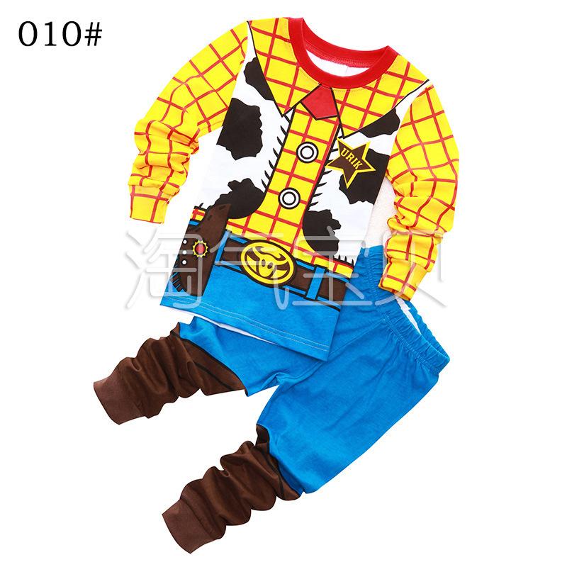睡衣兒童服家居兒童長袖純棉套裝男童睡衣胡迪卡通秋冬款特價