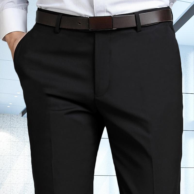 西裤男修身免烫西装裤坠感商务正装黑色西服裤子秋季职业休闲长裤