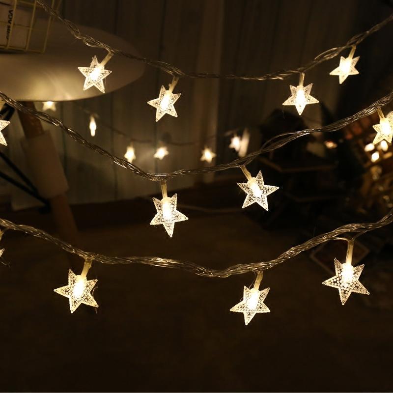 LED小彩灯闪灯串灯满天星出租屋改造房间装饰品灯饰网红布置星星的细节图片2