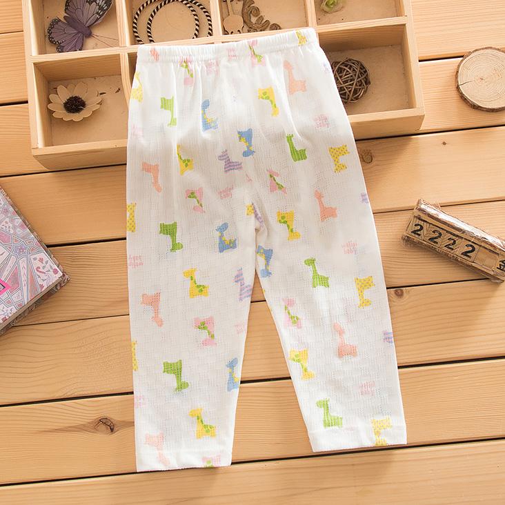 夏季嬰兒透氣孔長褲夏天男女寶寶薄透肉長褲男女兒童褲子空調褲
