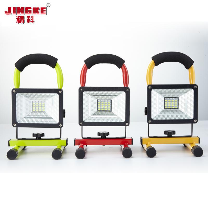 LED充電投光燈投射燈廣場球場戶外露營燈移動應急探照燈馬燈充電