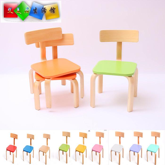 實木質兒童靠背椅小板凳幼兒園椅子木椅餐椅寶寶凳兒童小餐椅