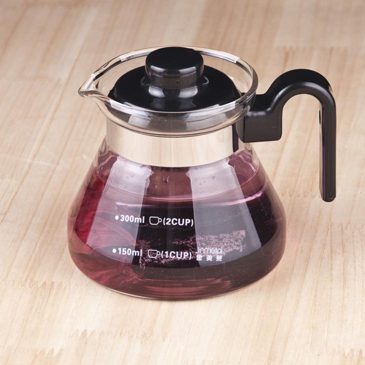 可明火耐熱玻璃咖啡壺小款花茶壺藥壺350ML 看清尺寸哦