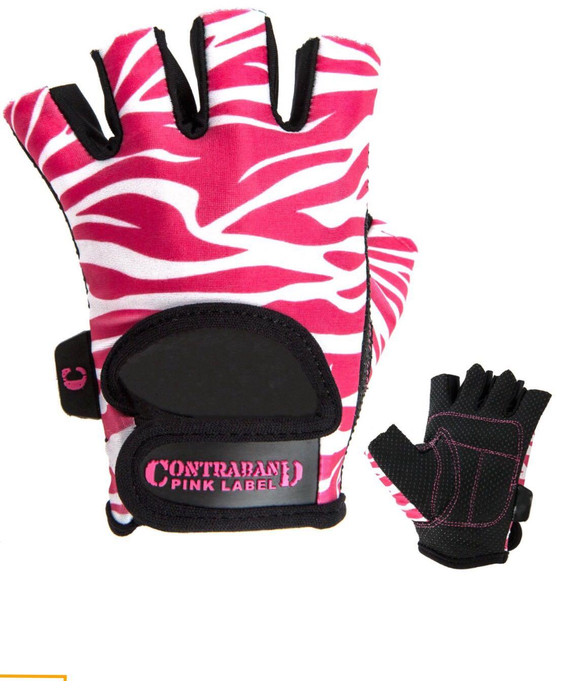 美國Contraband Pink Label專業女生健身練力量槓鈴啞鈴防滑手套