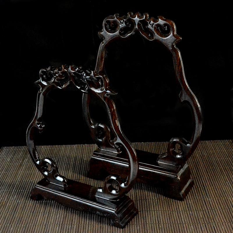 翡翠玉器把件展示木架珠宝展示架道具挂件玉吊古玩首饰悬挂摆件架