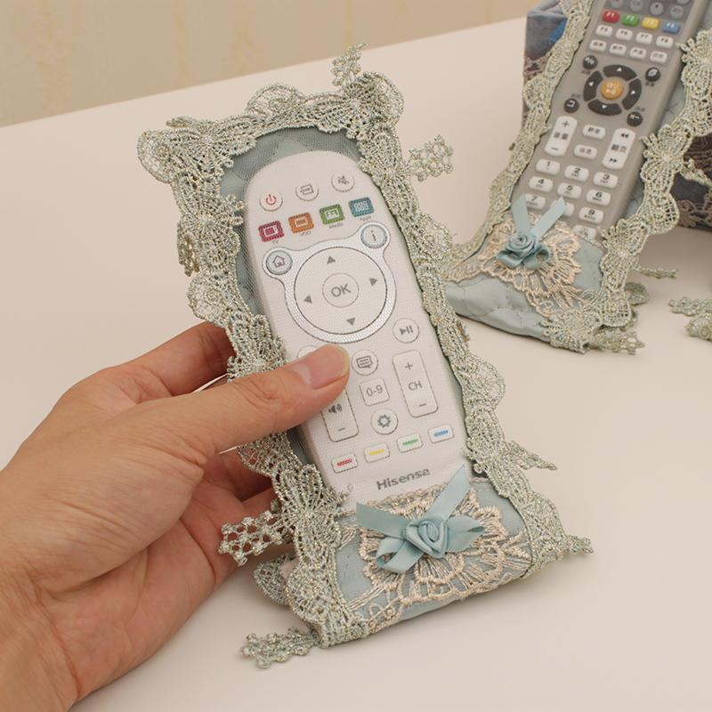 歐式布藝電視機頂盒遙控器套空調電視貓魔盒保護套可愛蕾絲防塵套