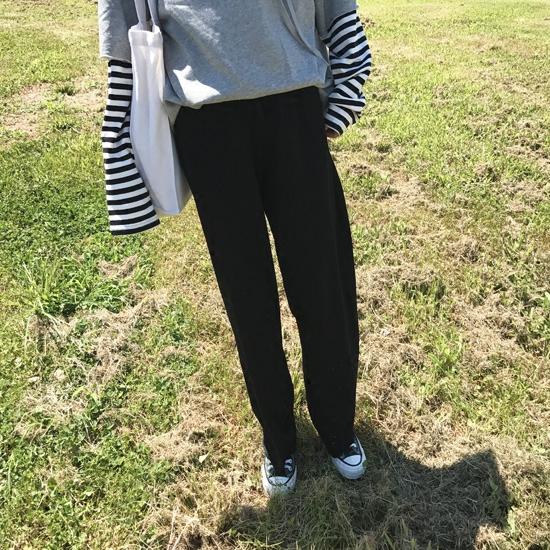 YUKIXIAOSHU松紧腰阔腿裤休闲裤运动裤韩国加绒新增小码2021春季