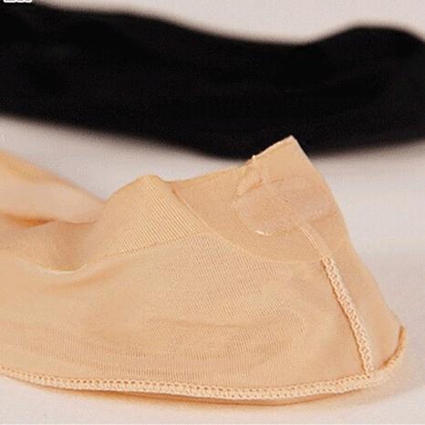 船袜女夏季浅口薄冰丝无痕鱼嘴鞋露脚趾隐形袜硅胶防滑凉鞋短袜子
