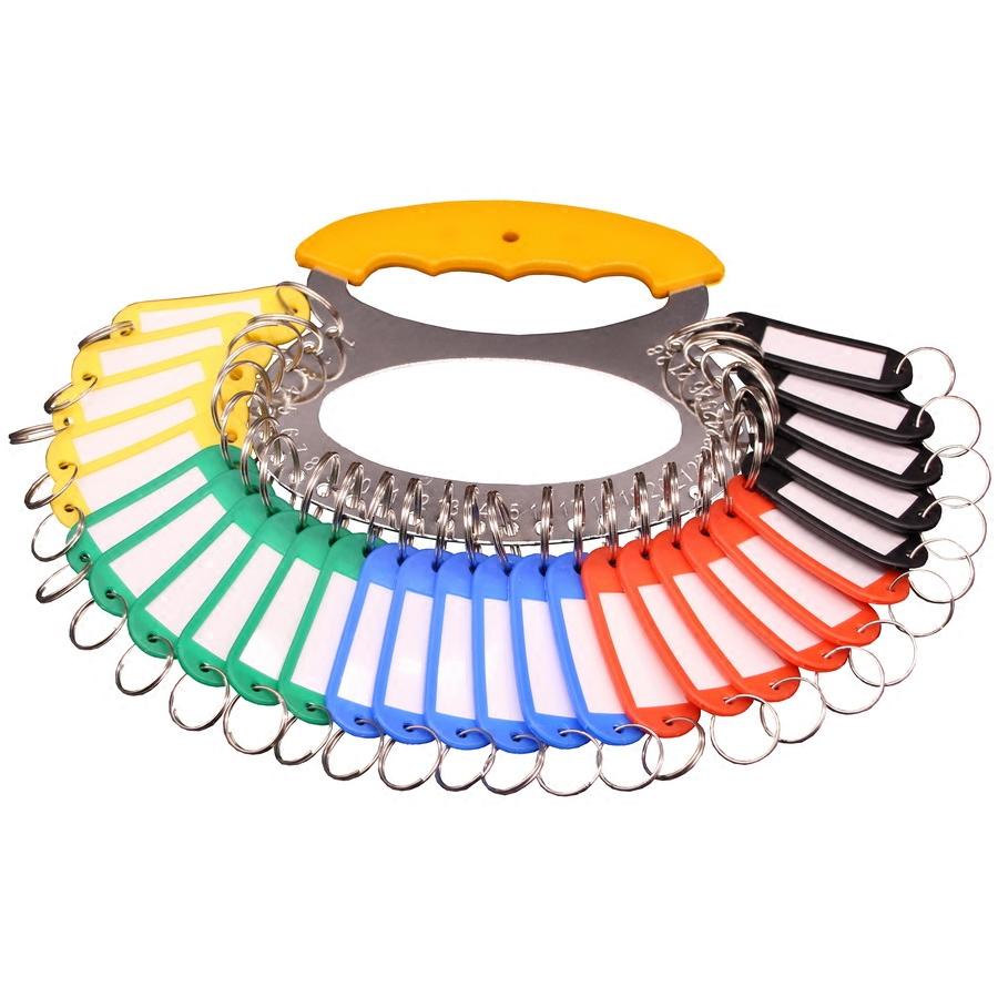 加厚金属钥匙盘钥匙圈收纳可标记钥匙板分类管理钥匙环扣锁匙牌串