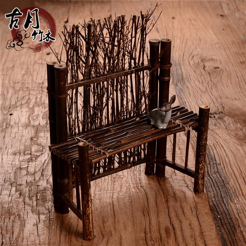 紫竹篱笆屏风 茶杯架 茶宠 围栏栅栏 摄影背景 茶台摆件 茶道零配