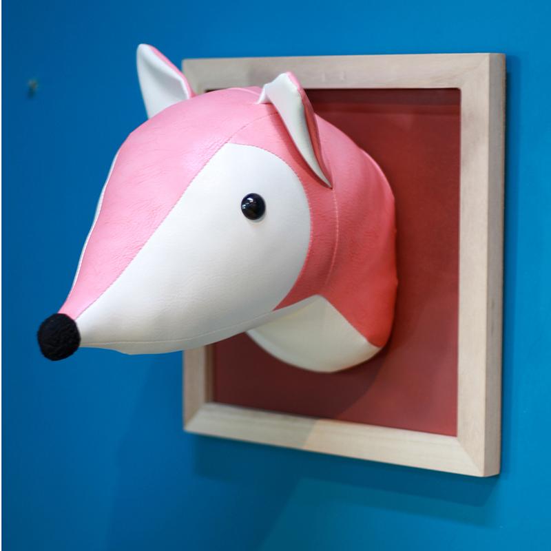 欧式复古个性创意家居饰品儿童房立体动物头墙壁装饰壁挂新品包邮