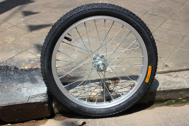 特惠裝16寸摺疊自行車輪組 前輪後輪 輪轂+內胎+外胎GOGO摺疊車輪