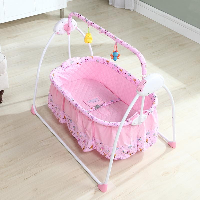 婴儿电动摇篮床自动小摇床音乐 宝宝智能新生儿电动摇椅哄睡神器