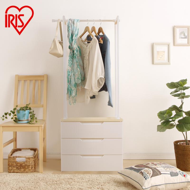 愛麗思IRIS 抽屜式收納櫃塑料收納櫃置物櫃置物架掛衣架HG723/724