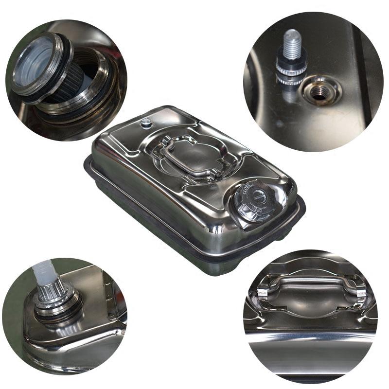304加厚防爆型5升柴油壶不锈钢汽油桶加油汽车摩托车便携备用油箱