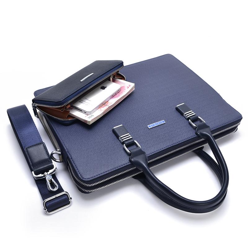 聯想華碩13.3/14寸手提單肩包蘋果11.6/12寸電腦包男式商務公文包