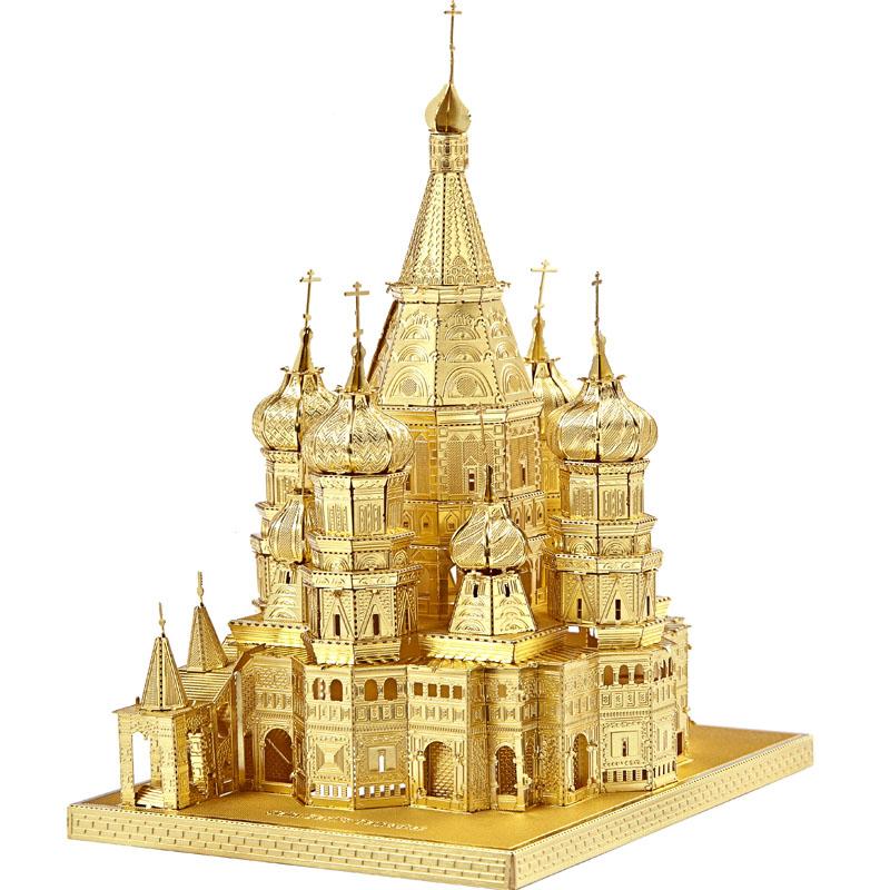 拼酷摩天轮3d立体拼图金属拼装模型建筑滕王阁高难度手工diy成人