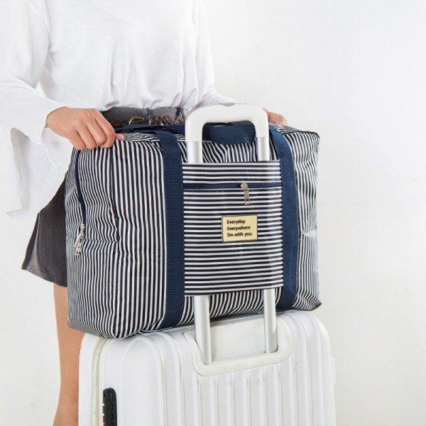 旅行可摺疊大容量衣物收納袋行李袋加厚防水手提拉桿包棉被整理包