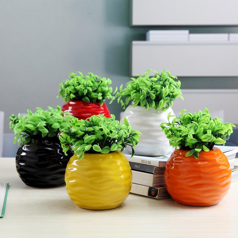 迷你套装陶瓷小花瓶插家居客厅酒柜饰品现代简约时尚创意礼品摆设