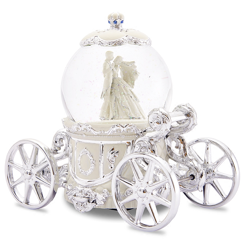 圆舞曲音乐盒八音盒水晶球雪花女生结婚新婚生日情人节礼物 JARLL