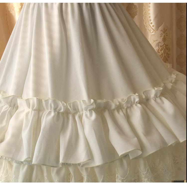 【殷天阁】春夏新款Lolita雪纺蕾丝花边打底蓬蓬鱼骨裙撑日常衬裙