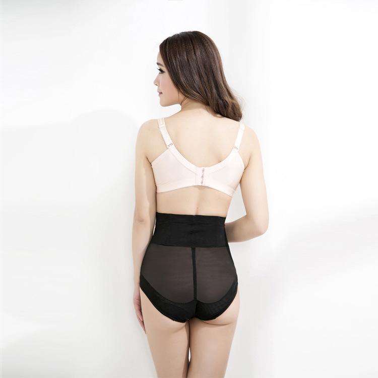 网纱塑身裤女士高腰产后塑身收腹裤交叉束身美体收腹塑身裤内裤