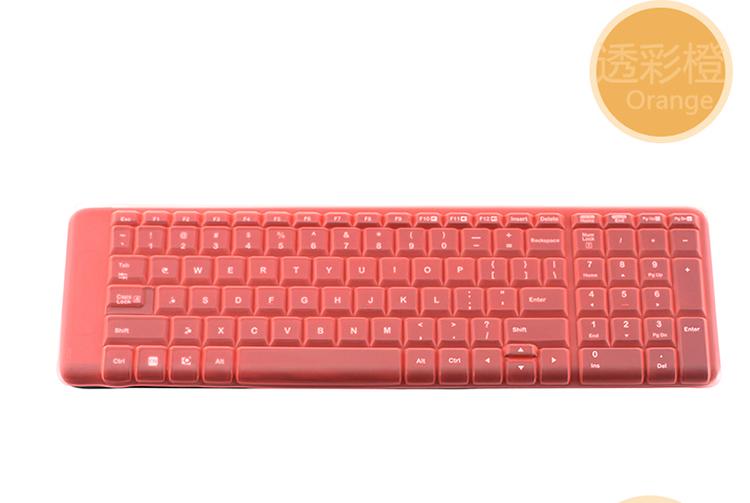 Logitech羅技mk215 mk220 k220 k230桌上型電腦無線鍵盤保護膜 防塵套