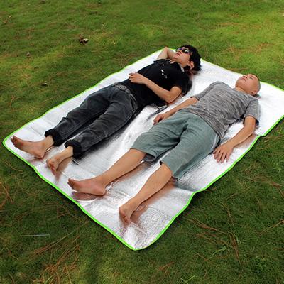 盛源戶外 200*150cm雙面防潮墊  雙人鋁箔 地墊 睡墊 野餐墊 包郵