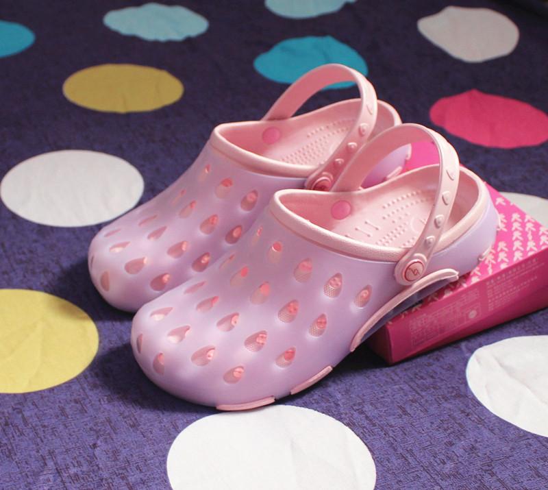洞洞鞋女夏軟平底舒適外孕婦包頭果凍護士韓沙灘休閒防滑男涼拖鞋
