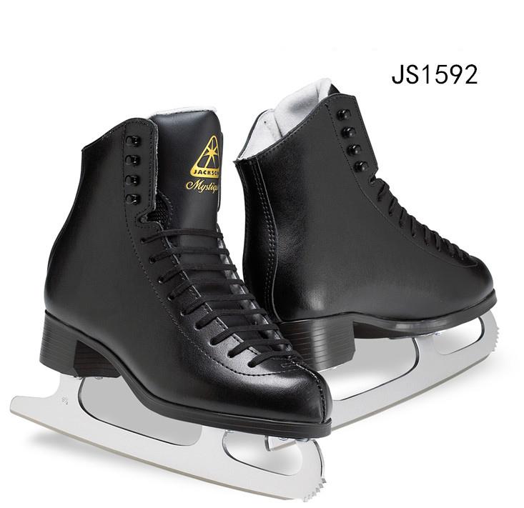 加拿大 Jackson 花样冰刀鞋 JS1592 黑色男滑冰鞋 成年真冰溜冰鞋