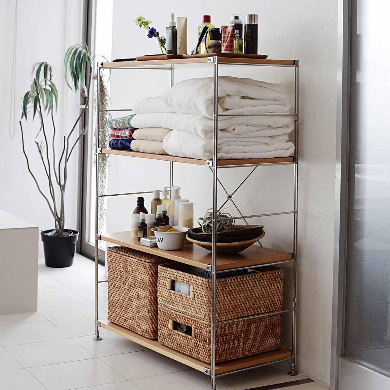 Jugar極架【高120cm】極簡日式多層ins擱板層架置物架書架浴室收