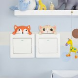 European-style switch stickers creative cartoon cute animal socket room wall decoration resin protective cover personality wall stickers
