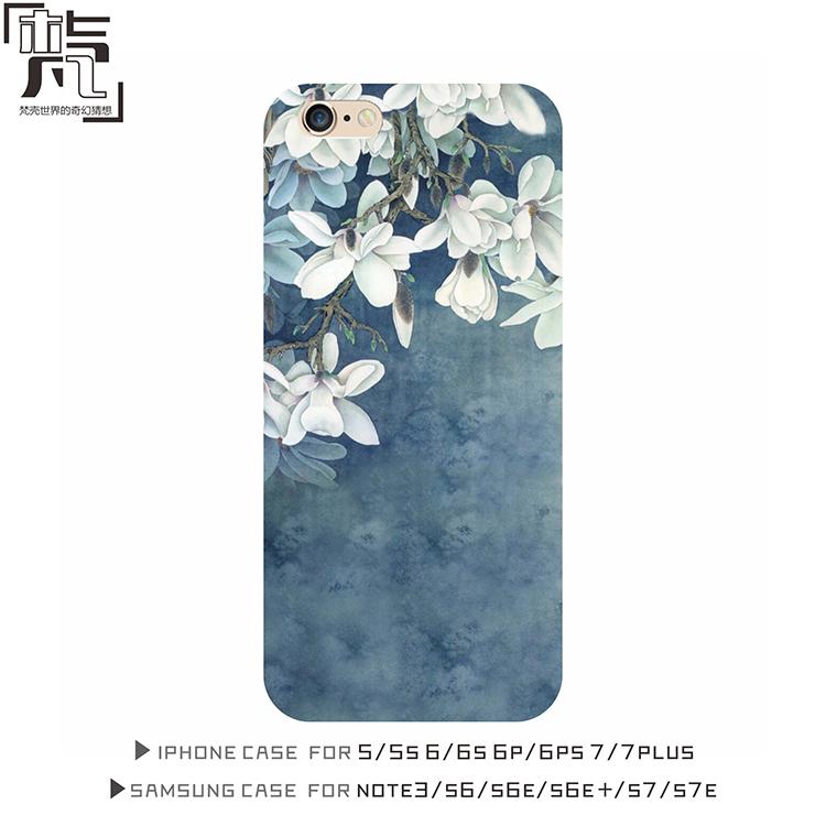 復古碎花原創意潮蘋果7 iphone6s 6plus三星S7手機殼全包邊軟殼套