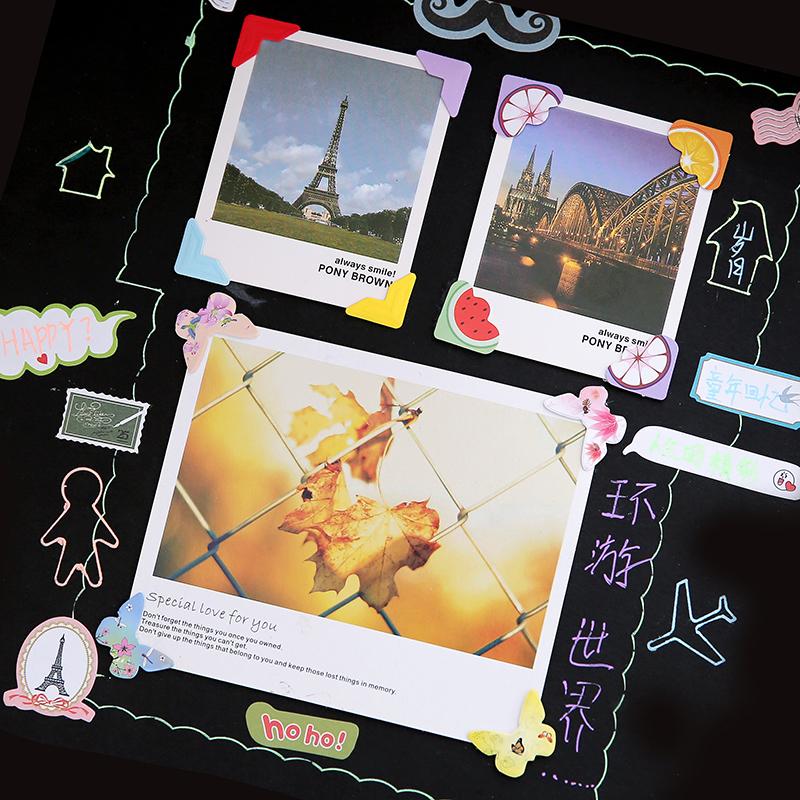 DIY相册配件 相角贴照片固定角贴 拍立得相片复古简约 纸质角贴
