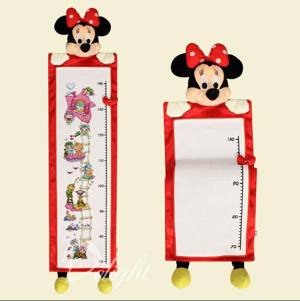 Delight十字绣  婴儿用品 儿童身高表 米妮身高表 (含图和线)