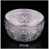 Thai importhand fine-cut tin bowl spa supplies Thai-style decoration Southeast Asian home tableware water cup rice bowl