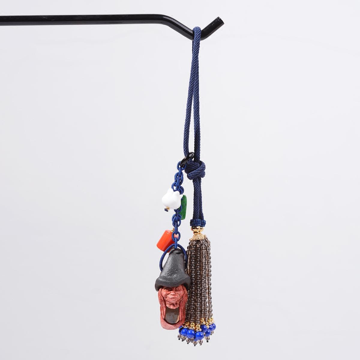 雁唐珠宝北欧精灵符文精灵包挂印度迷你精灵包挂件星座精灵饰品