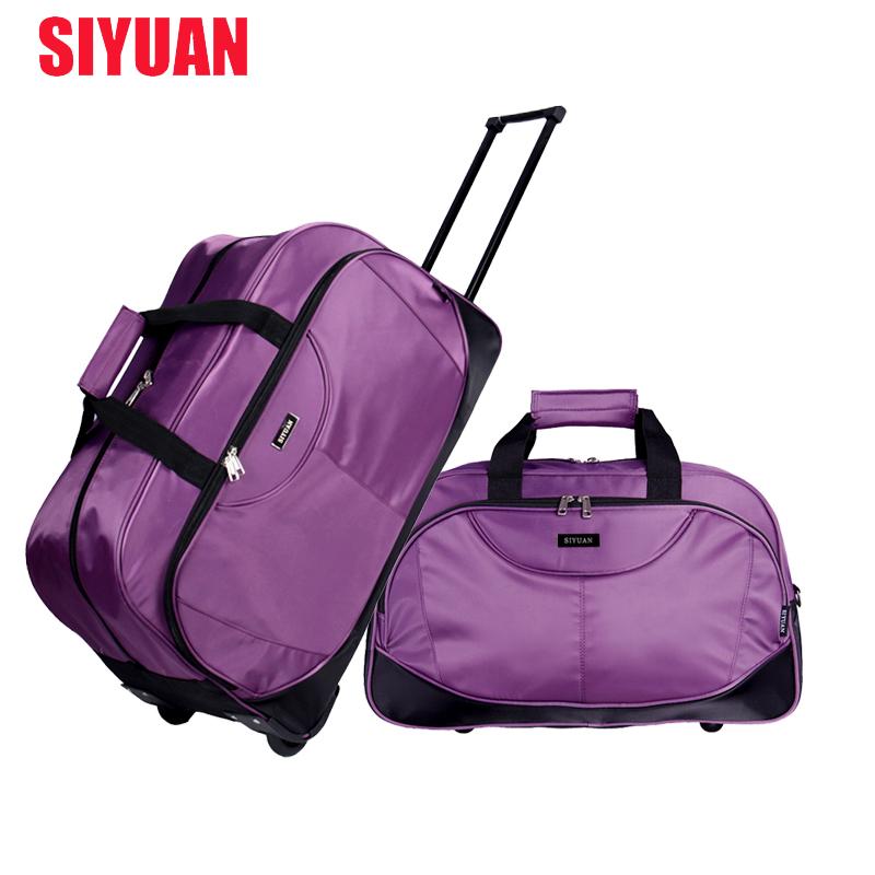 SIYUAN大容量拉桿旅行包男商務行李包女手提旅行袋登機旅遊包