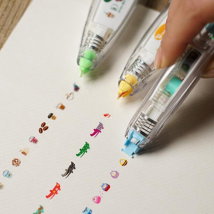創意文具 創意按壓式花邊修正帶 可愛卡通動物 特色創意 日記