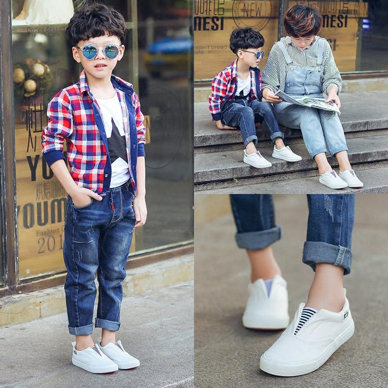 双星儿童帆布鞋男童鞋布鞋女童小白鞋百搭宝宝球鞋秋2019新款韩版