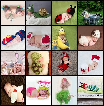 新生儿宝宝摄影衣服婴儿百天满月拍照相写真帽子造型衣艺术照服装
