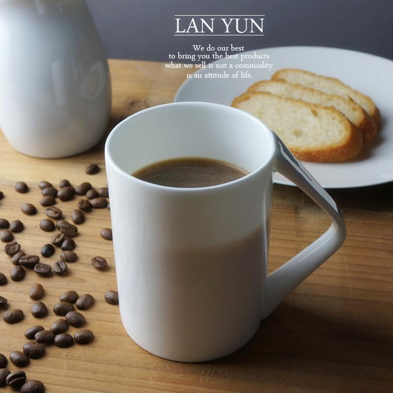 丹麥 創意V把手骨瓷馬克杯奶茶咖啡杯 北歐幾何茶水杯 簡約質感佳