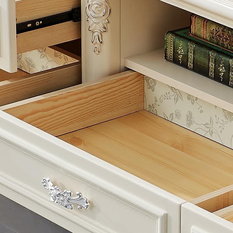 聚法丽莎欧式电视柜大理石茶几组合小户型客厅成套家具套装地柜
